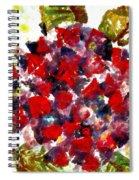 Red Purple Flower Spiral Notebook