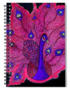 Red - Purple Peacock Spiral Notebook