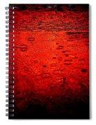 Red Rain Spiral Notebook