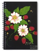 Red Raspberries And Dogwood Flowers Spiral Notebook