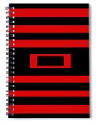 Red Rectangle Spiral Notebook