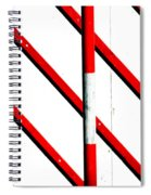 Red Red Line Spiral Notebook