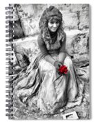 Red Red Rose In Black And White Spiral Notebook