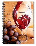 Red Red Wine Spiral Notebook