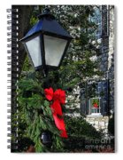 Red Ribbon Christmas Spiral Notebook