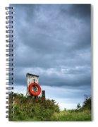 Red Ring Life Preserver Hanging Spiral Notebook