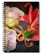Purple Roses And Red Lily Spiral Notebook