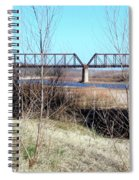 Red River I 35 Train Trussell Spiral Notebook