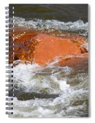 Red Rock And Water Splash Spiral Notebook