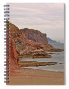 Red Rock By Sea Of Cortez From San Carlos-sonora Spiral Notebook