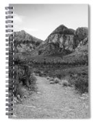 Red Rock Canyon Trailhead Black And White Spiral Notebook