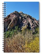 Red Rock Canyon With Foliage Spiral Notebook