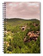 Red Rock Green Forest No2 Spiral Notebook