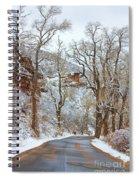 Red Rock Winter Road Portrait Spiral Notebook