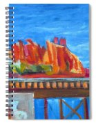 Red Rocks And Railroad Trestle Spiral Notebook