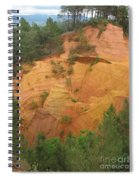 Red Rocks Of Roussillon Spiral Notebook