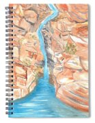 Red Rocks Of Water Spiral Notebook