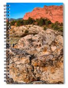 Red Rocks Over White Spiral Notebook