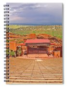 Red Rocks Park Amphitheater - Centered View Spiral Notebook