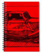 Red Rod Spiral Notebook