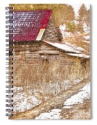 Red Roof In The Snow  Spiral Notebook