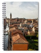 Red Roofs Of Europe - Venetian Canal Palaces Gardens And Courtyards Spiral Notebook