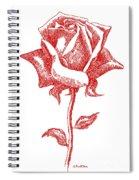 Red Rose Art 1 Spiral Notebook