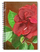 Red Rose Autumn Texture Thank-you  Spiral Notebook