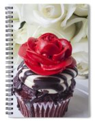 Red Rose Cupcake Spiral Notebook