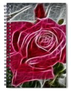 Red Rose Expressive Brushstrokes Spiral Notebook