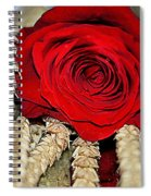 Red Rose On A Bed Of Wheat Spiral Notebook
