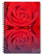 Red Rose Reflects Spiral Notebook