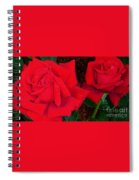 Red Rose Twins  Spiral Notebook