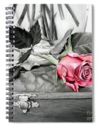 Red Rosebud Spiral Notebook