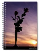 Red Roses At Sunset Spiral Notebook