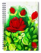 Red Roses From The Garden Impression Spiral Notebook