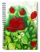 Red Roses From The Garden Spiral Notebook