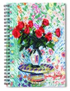 Red Roses In Water Spiral Notebook