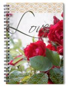 Red Roses Love And Lace Spiral Notebook