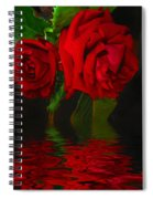 Red Roses Reflected Spiral Notebook