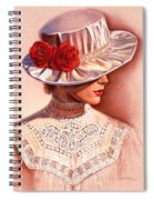 Red Roses Satin Hat Spiral Notebook