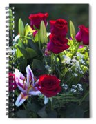 Red Roses Say I Love You Spiral Notebook