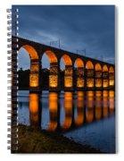 Red Royal Border Bridge Spiral Notebook