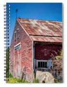 Red Rustic Weathered Barn Spiral Notebook