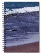 Red Sand Beach Abstract Spiral Notebook