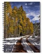 Red Sandstone Road In October Spiral Notebook