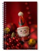Red Santa Spiral Notebook