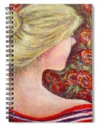 Red Scented Roses Spiral Notebook