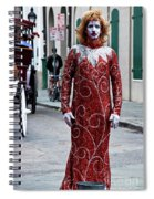 Red Sequined Mime Spiral Notebook