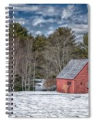 Red Shed In Maine Spiral Notebook